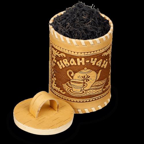 Иван-чай ферментированный крупнолистовой в берестяном туеске (150г)