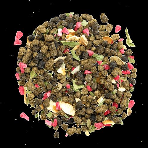 Иван-чай гранулированный с малиной, мятой и лимоном